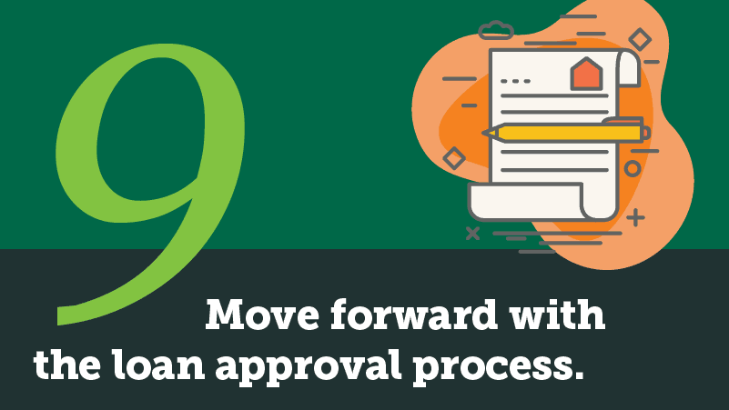 How to buy a house step 9: Move forward with the loan approval process.